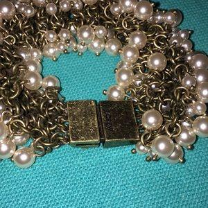 J. Crew Jewelry - J Crew faux Pearl Bracelet